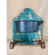 Porta Papel Toalha de Parede com Panela em Ferro