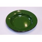 Prato em Ágata Verde Escura - 22 cm de Diâmetro