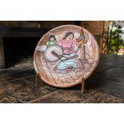Pratos em argila decoração - mesa ou parede médio