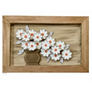 Quadro Vaso de Flores Brancas - 40 cm x 60 cm