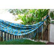 Rede Gorgurão Azul Claro Floral