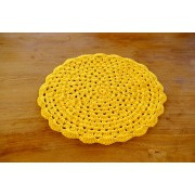 Sousplat em Crochê Amarelo - Unidade
