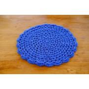 Sousplat em Crochê Azul Escuro - Unidade