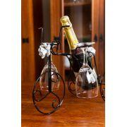 Suporte Para Garrafa de Vinho Bicicleta Adega Tipo Escultura