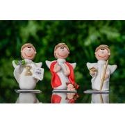 Trio Arcanjos em Biscuit