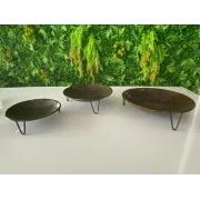 Trio de Fruteiras Redondas em Lata