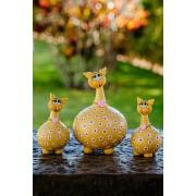 Trio de Gatos em Cabaça - Amarelo