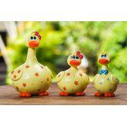 Trio de Patos em Cabaça - Amarelo