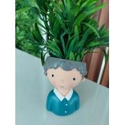 Vaso de Poliresina - Menininho de Blusa Azul