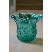 Vaso esmeralda em vidro