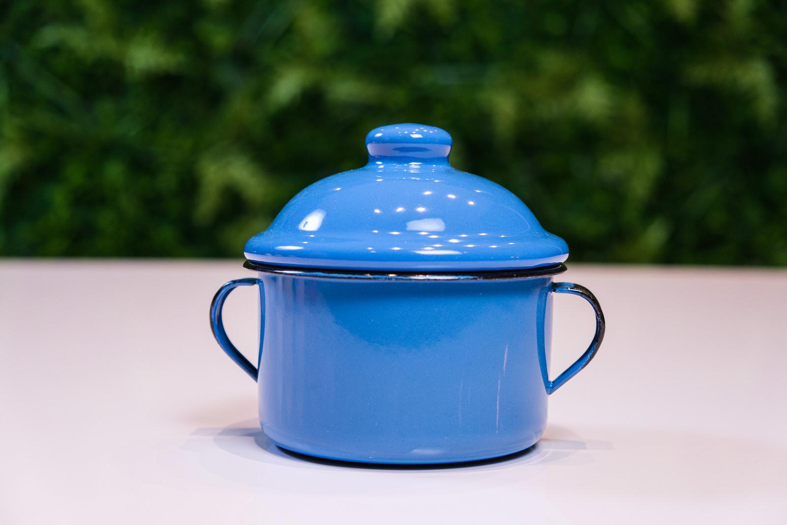 Açucareiro em Ágata Azul - 350 Gramas