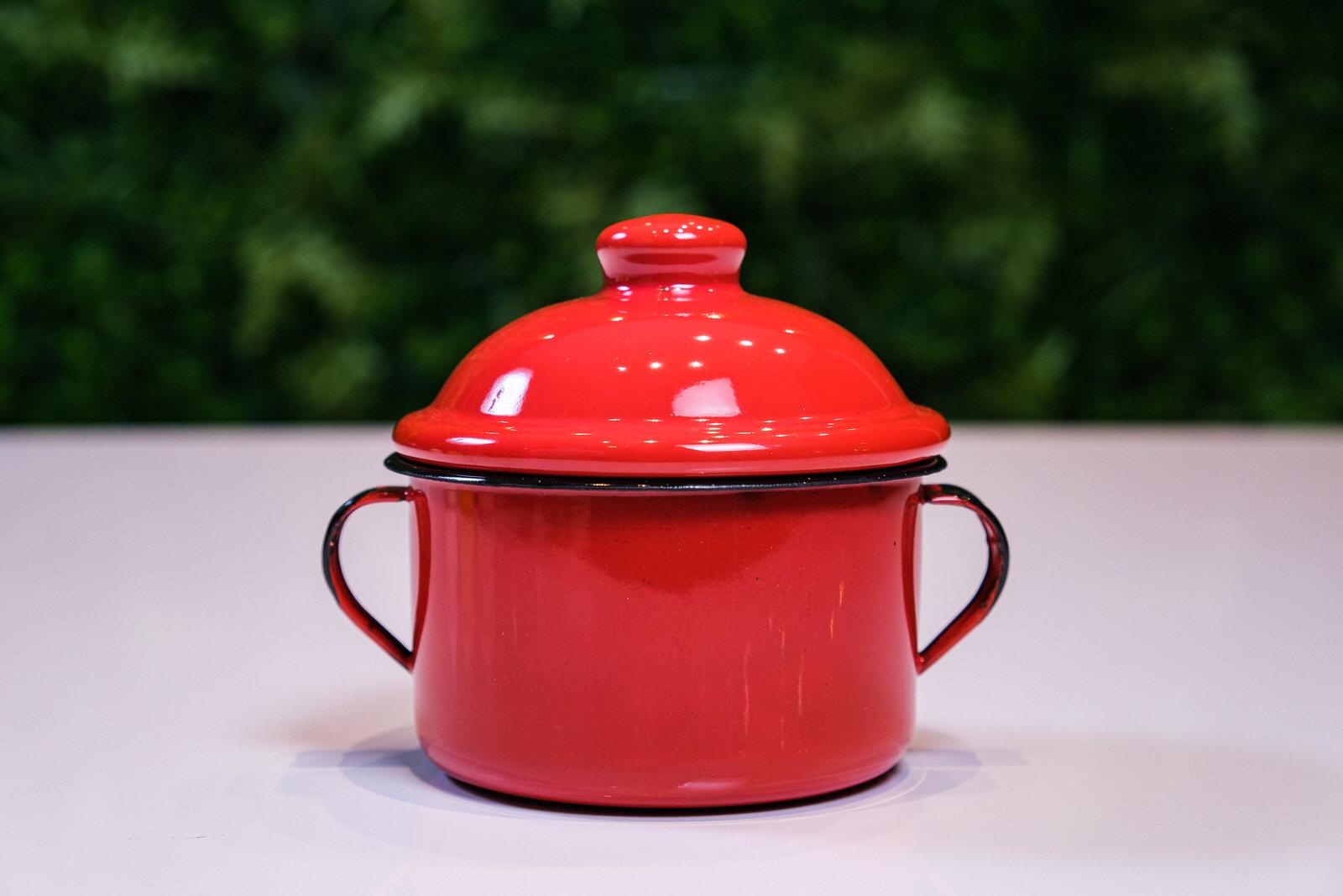 Açucareiro em Ágata Vermelho - 350 Gramas