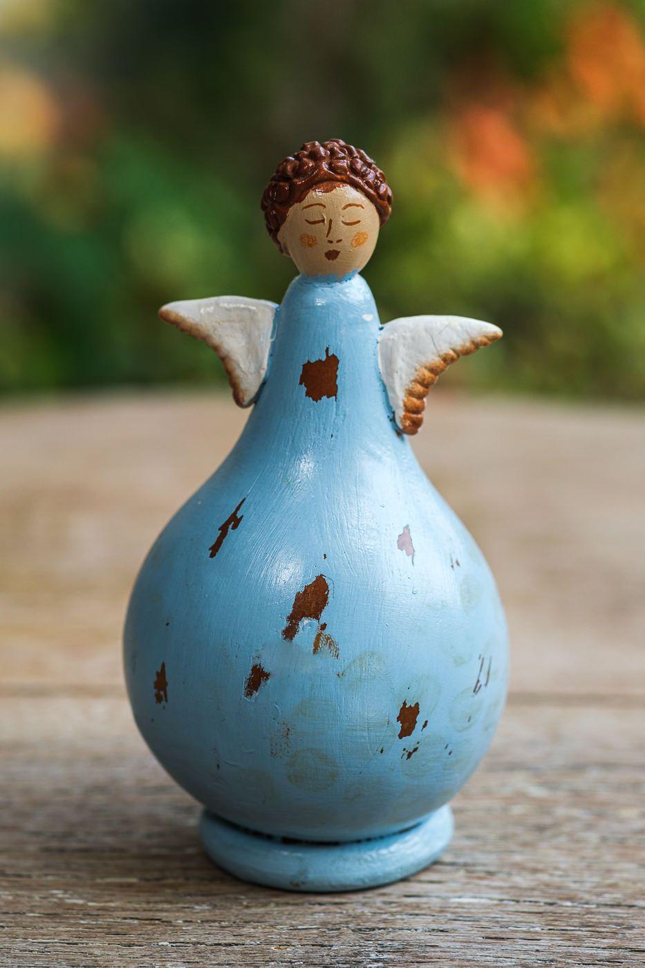 Anjos em Cabaça para Decoração