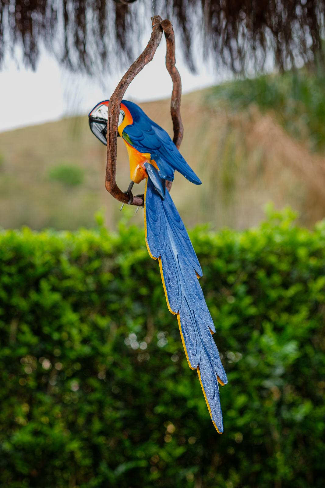 Arara de Galho em Madeira Azul - Grande