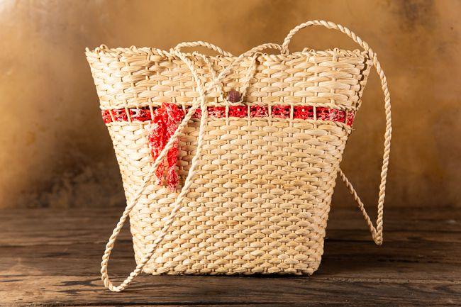 Bolsa de palha praia