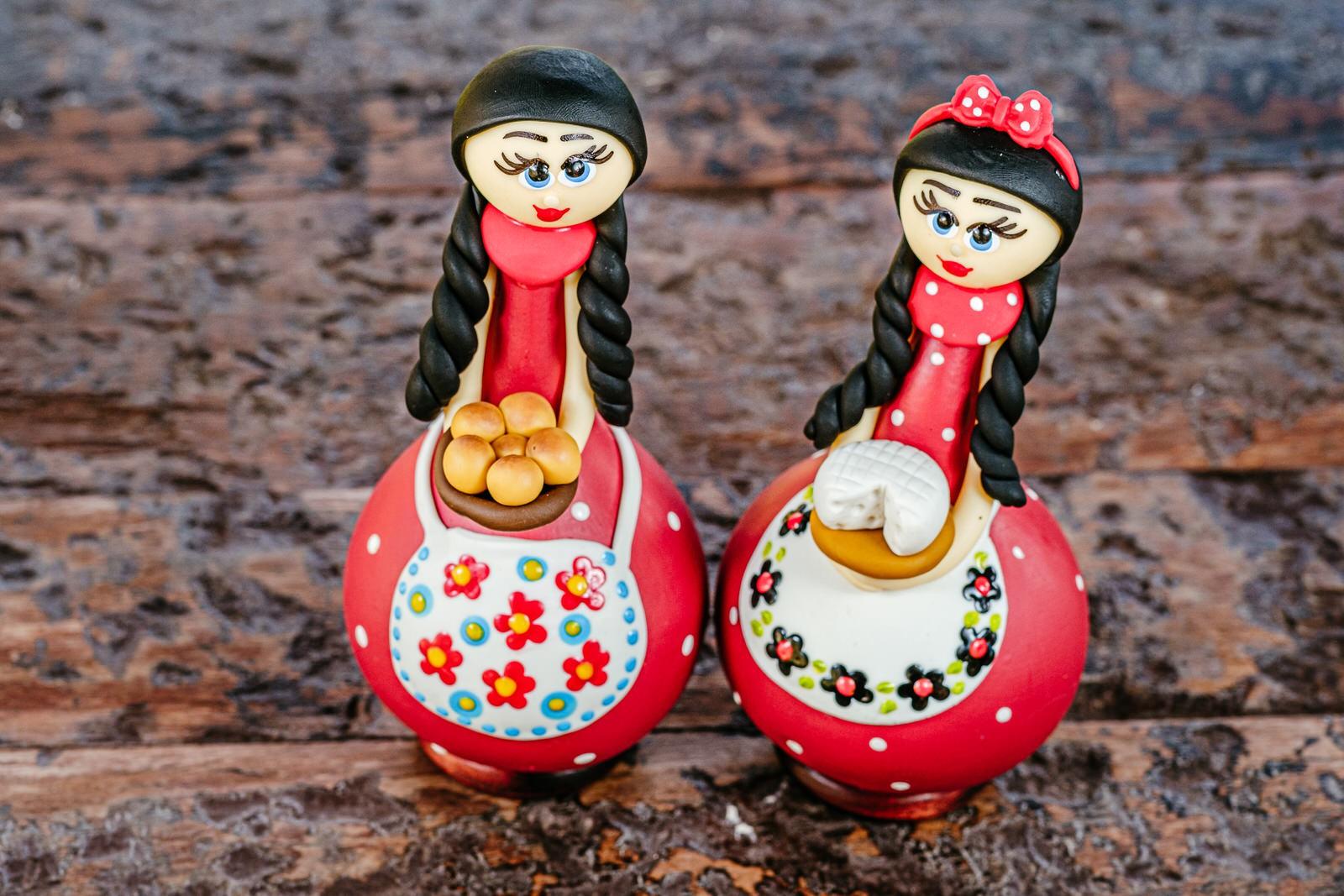 Bonecas Mineiras em Cabaça - Kit com 2 Peças