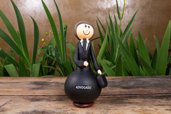 Boneco em Cabaça Profissões - Advogado