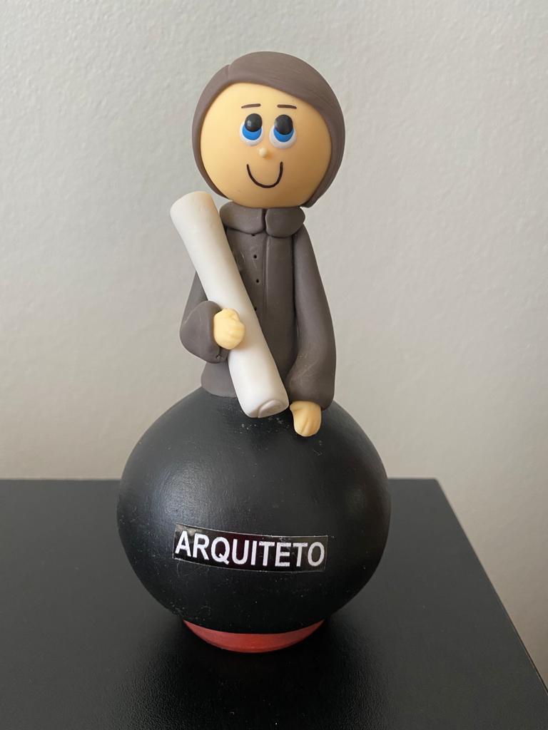 Boneco em Cabaça Profissões - Arquiteto