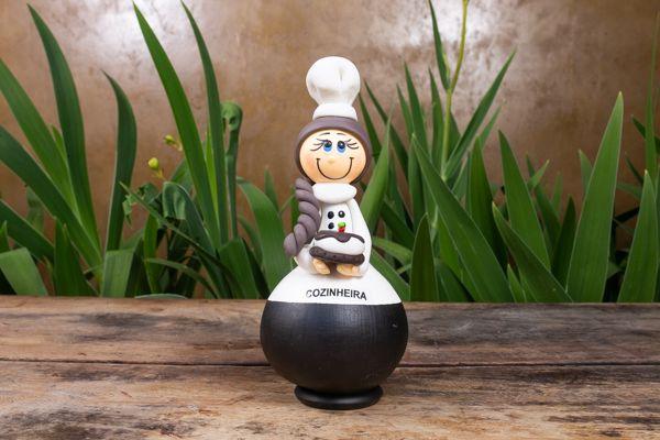 Boneco em Cabaça Profissões - Cozinheira
