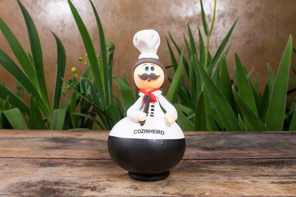Boneco em Cabaça Profissões - Cozinheiro