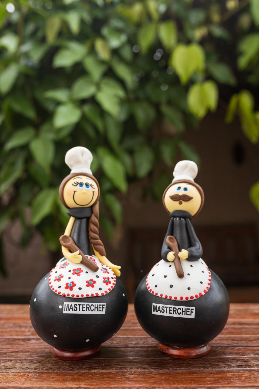 Boneco em Cabaça Profissões - Master Chef