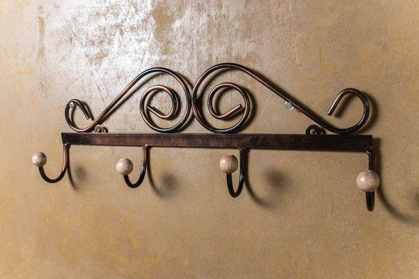 Cabideiro de parede ferro rústico