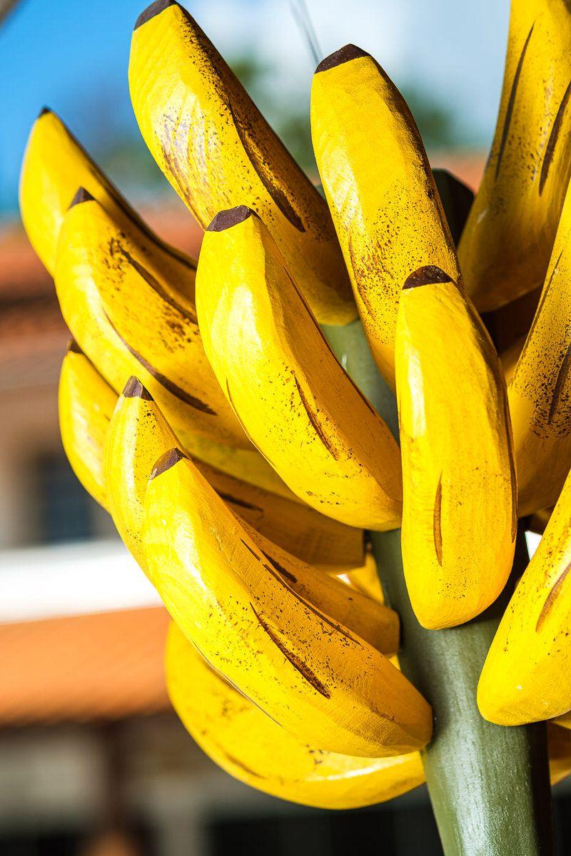 Cacho de Bananas em Madeira Decorativo Grande