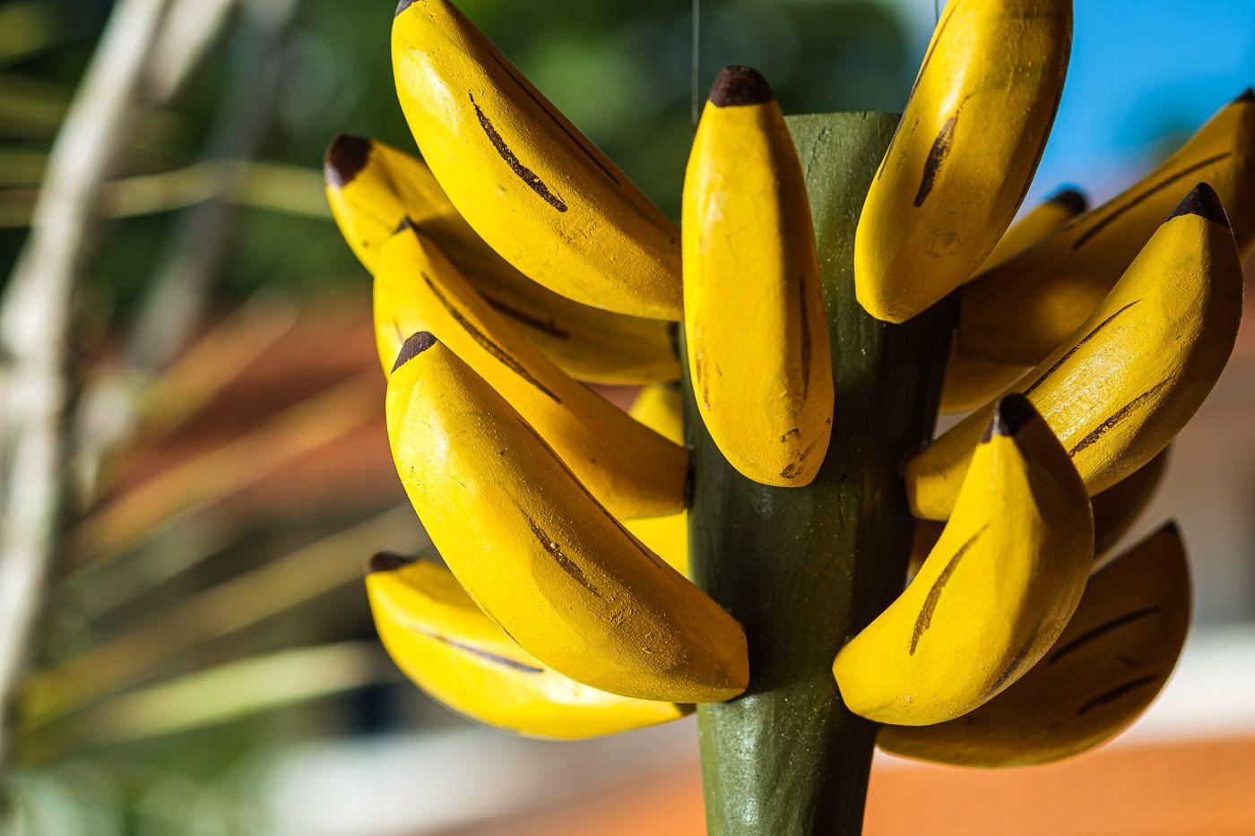Cacho de Bananas em Madeira Decorativo Pequeno