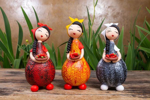 Boneca Camponesa em Cabaça
