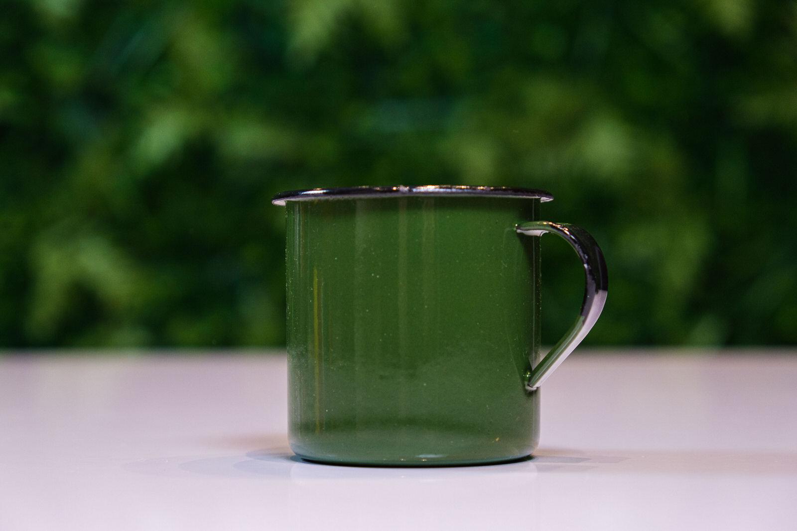 Caneca em Ágata Verde Escura - 180 ml
