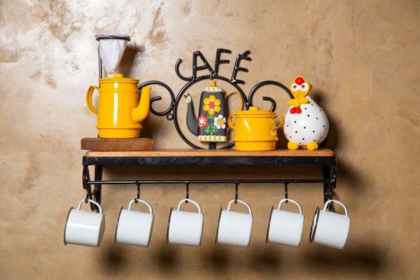 Kit cantinho do café com  mini açucareiro