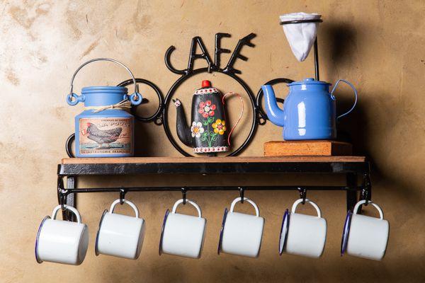 Kit Cantinho do café especial com mini chaleira