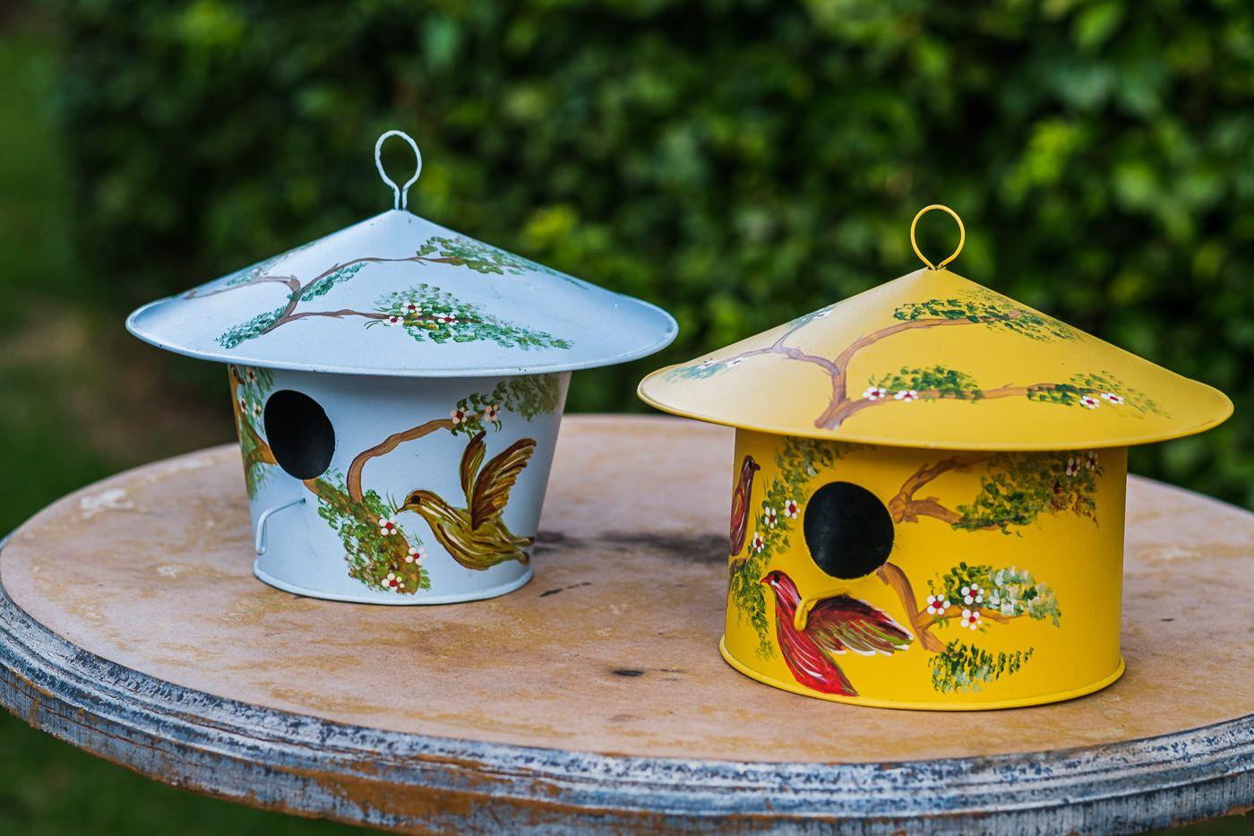 Casa de Pássaros Decorativa para Jardim