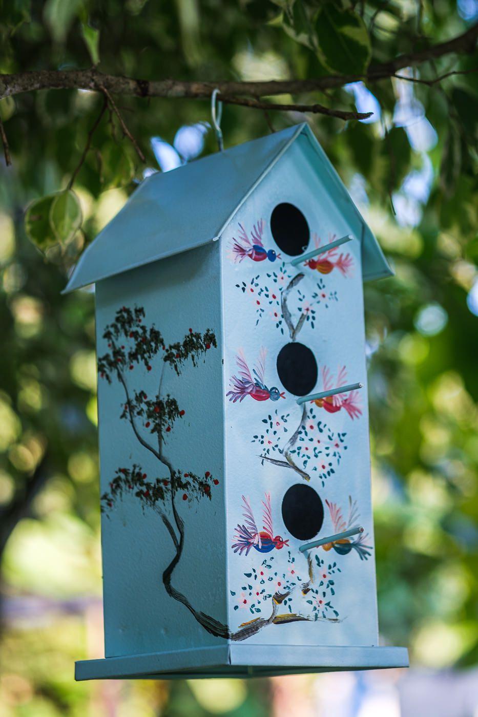 Casa de Pássaros para Jardim Retangular