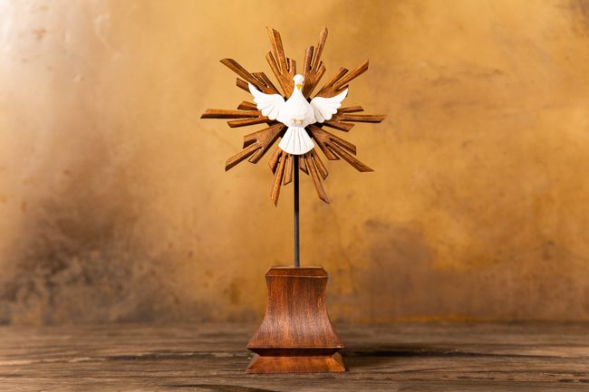 Divino Espírito Santo Pedestal em Madeira de Mesa