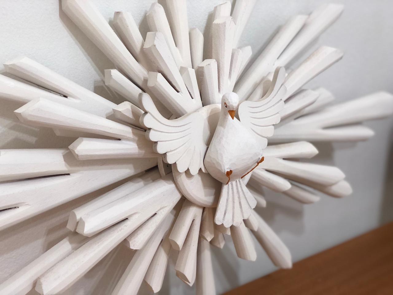 Divino Resplendor 40 cm x 60 cm - Branco sem Flores
