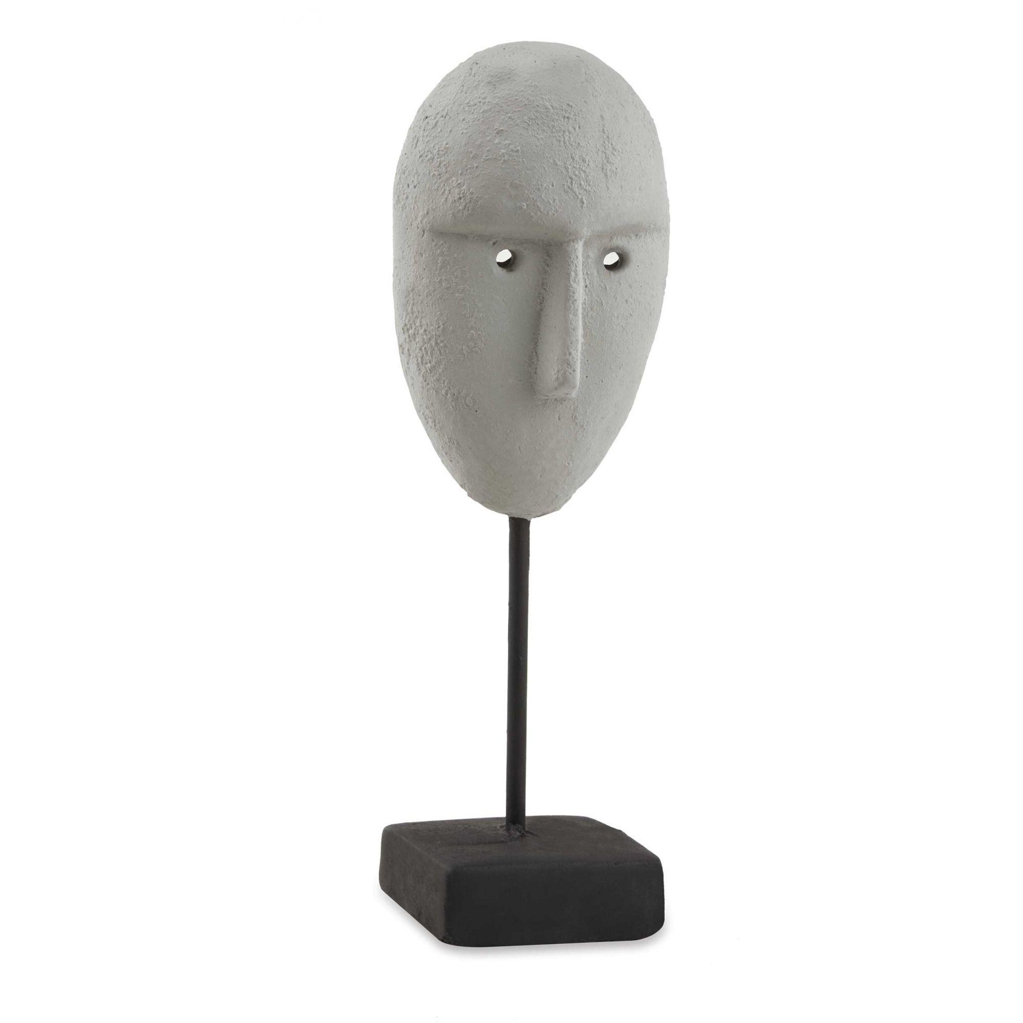 Escultura face em cimento
