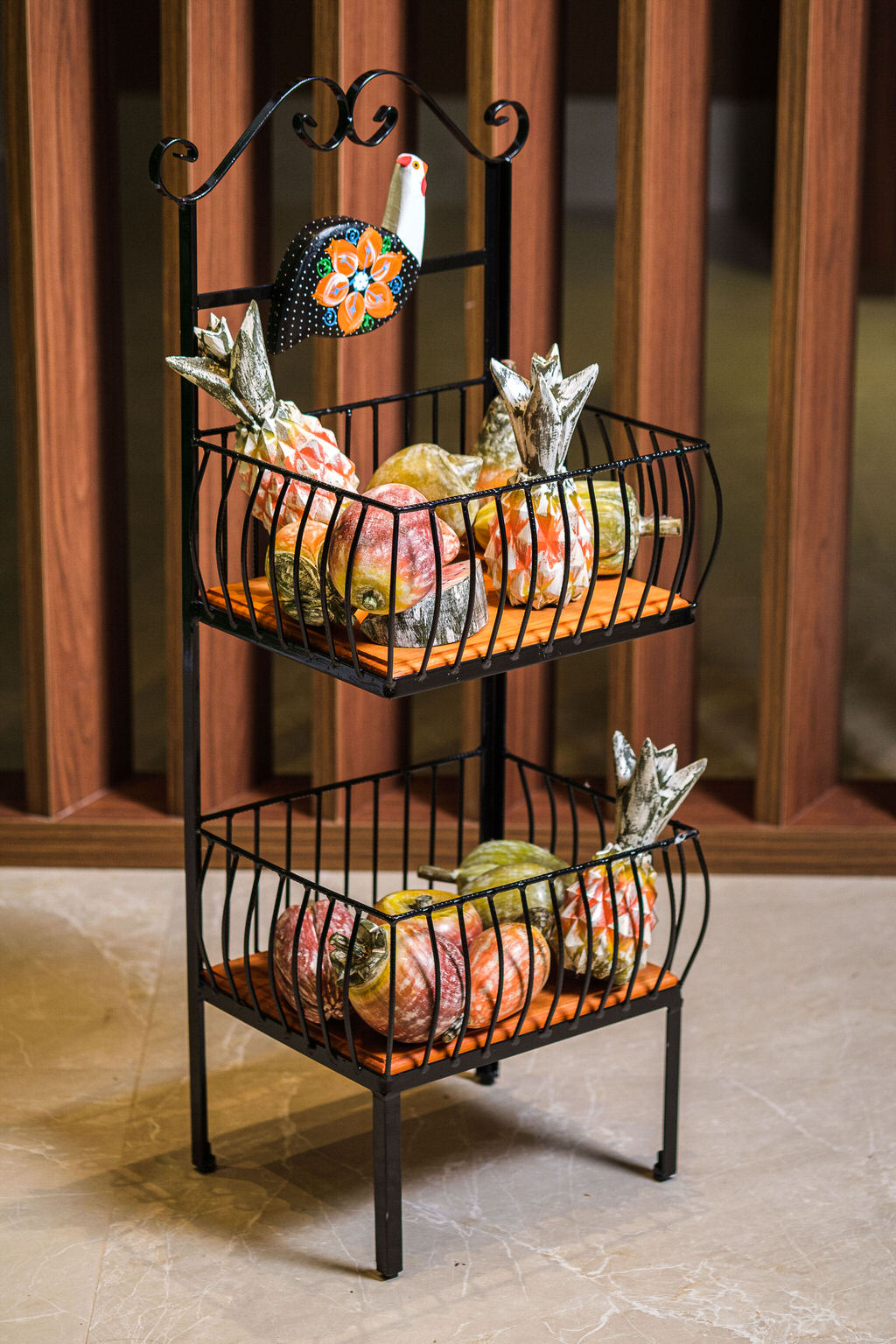 Fruteira 2 andares galinha da angola