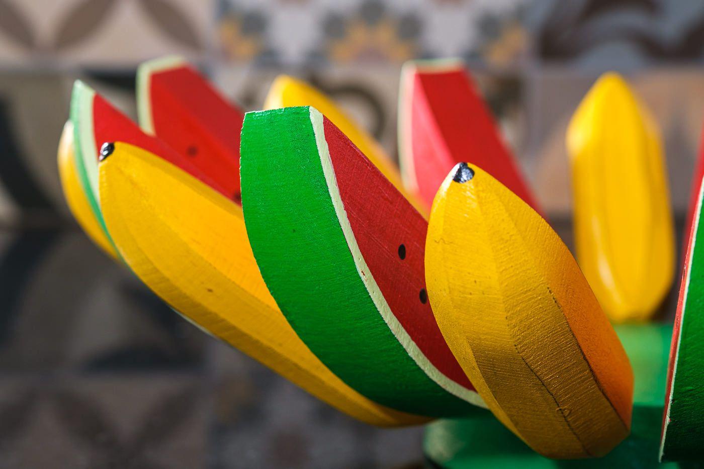 Fruteira Artesanal Rústica - Mista em Banana e Melancia