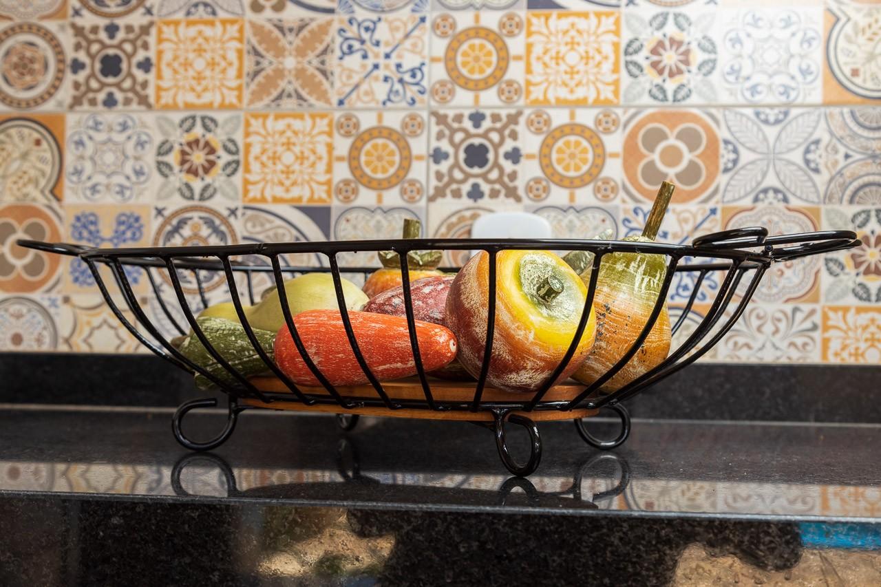 Fruteira oval com alça  G