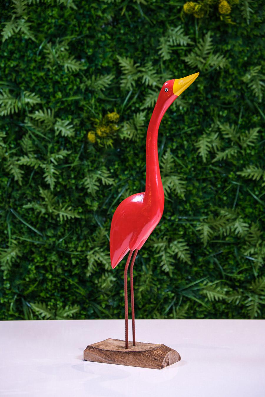 Garça Decorativa - Vermelha
