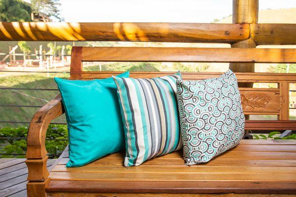 Jogo de capas para  almofadas  azul turquesa