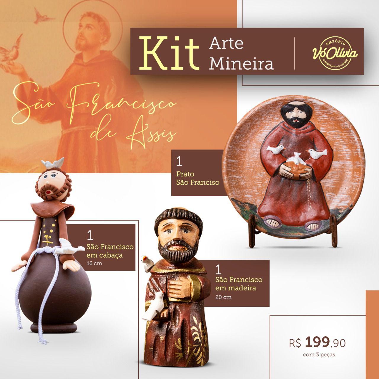 Kit arte mineira -  São Francisco de Assis