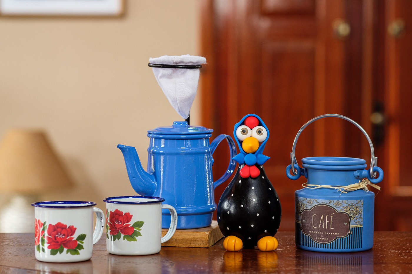 Kit Café Cheio de Mineirice - Azul Claro