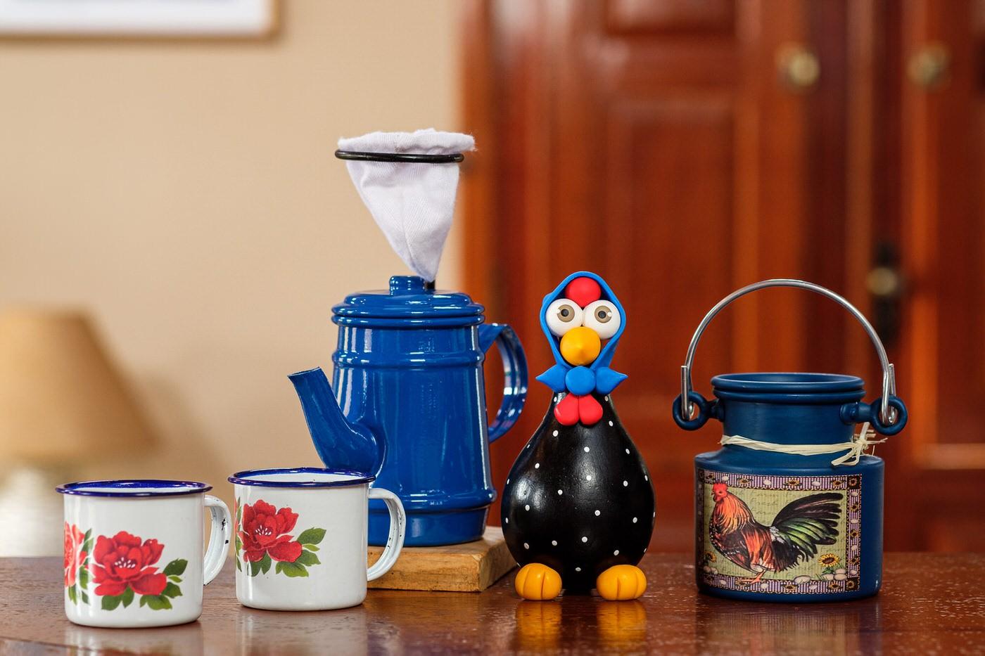 Kit Café Cheio de Mineirice - Azul Escuro