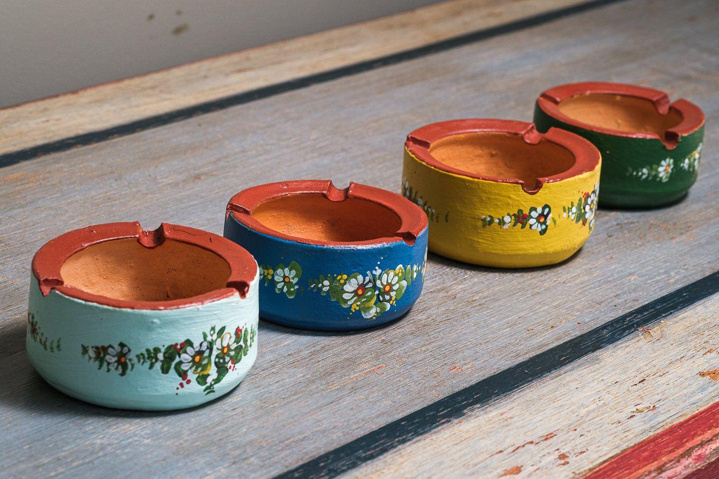 Kit cinzeiros em argila decoração