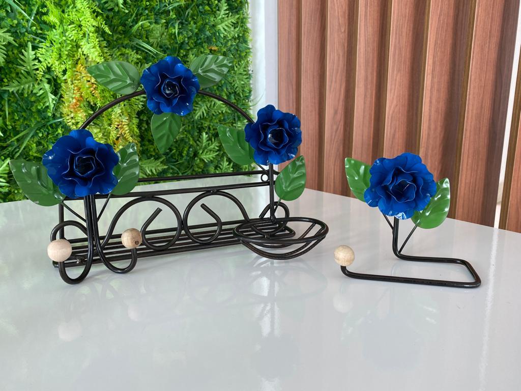 Kit de Banheiro Rústico - Azul