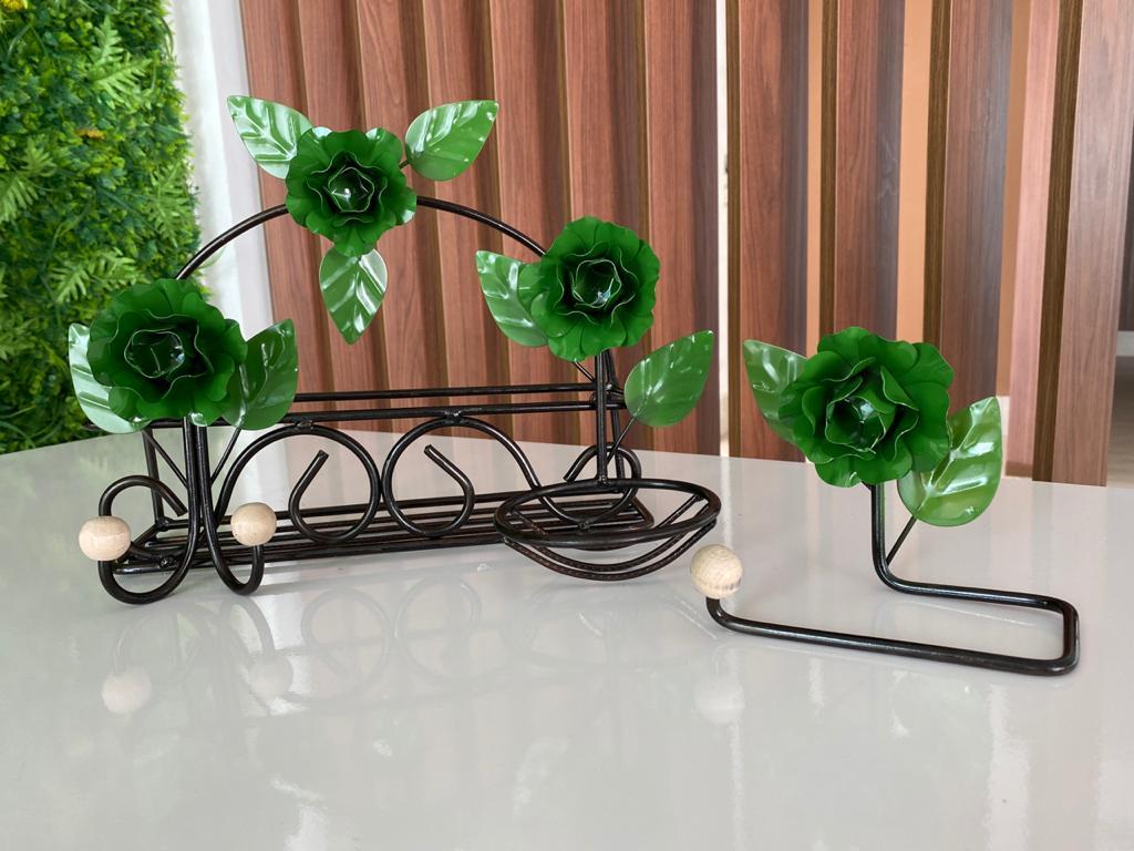 Kit de Banheiro Rústico - Verde