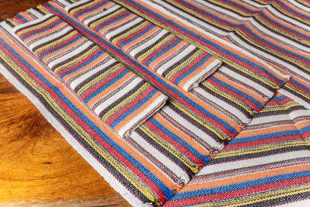Kit jogo americano e passadeira em algodão - Colorido