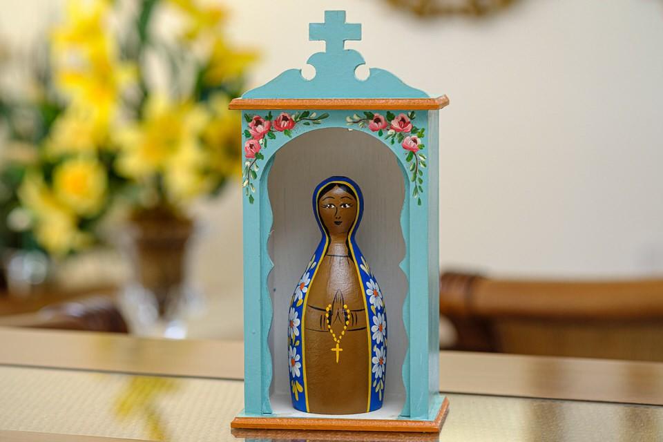 Kit Mini Oratório e Nossa Senhora Aparecida em Toco